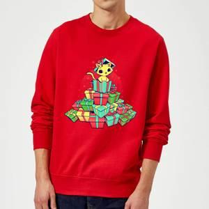 Tobias Fonseca Tons Of Xmas Gifts Sweatshirt - Red