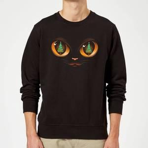 Tobias Fonseca Xmas Cat Attack Sweatshirt - Black