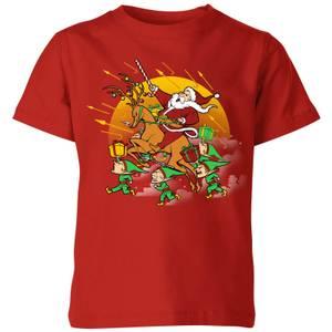 Tobias Fonseca Xmas War Kids' T-Shirt - Red