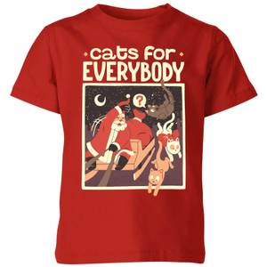 Tobias Fonseca Cats For Everybody Kids' T-Shirt - Red