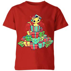 Tobias Fonseca Tons Of Xmas Gifts Kids' T-Shirt - Red