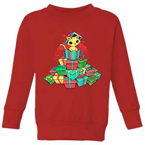 Tobias Fonseca Tons Of Xmas Gifts Kids' Sweatshirt - Red