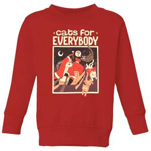 Tobias Fonseca Cats For Everybody Kids' Sweatshirt - Red