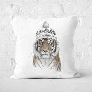 Siberian Tiger Square Cushion