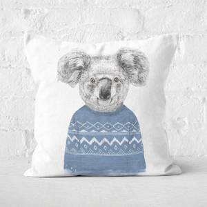 Winter Koala Square Cushion
