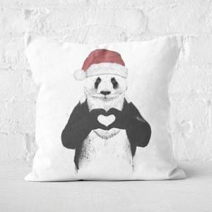 Santa Panda Square Cushion