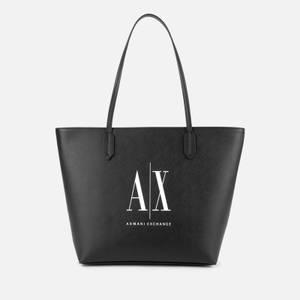 Armani Exchange Women's Icon Tote Bag - Black