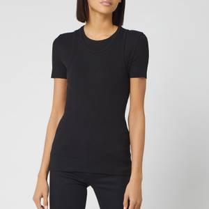 Helmut Lang Women's Double Layer T Vintage Slub Rib Vest - Black