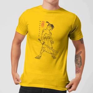 Samurai Jack Vintage Kanji Men's T-Shirt - Yellow