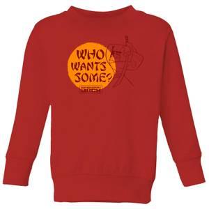 Samurai Jack Who Wants Some Kids' Sweatshirt - Red