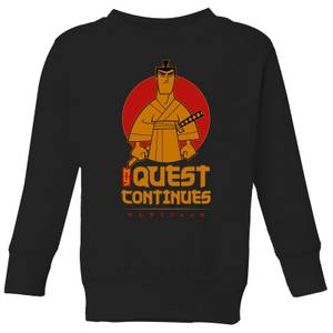 Samurai Jack My Quest Continues Kids' Sweatshirt - Black