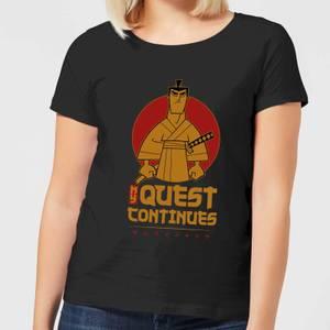 Samurai Jack My Quest Continues Women's T-Shirt - Black
