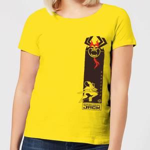Samurai Jack Samurai Stripe Women's T-Shirt - Yellow