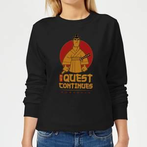 Samurai Jack My Quest Continues Women's Sweatshirt - Black