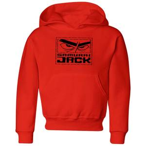 Samurai Jack Stylised Logo Kids' Hoodie - Red