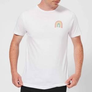 Hand Drawn Rainbow Men's T-Shirt - White