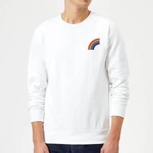 Half Rainbow Sweatshirt - White