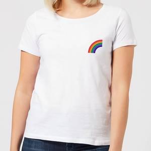Half Rainbow Women's T-Shirt - White