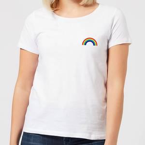 Classic Rainbow Pocket Women's T-Shirt - White
