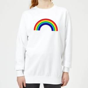 Classic Rainbow Women's Sweatshirt - White