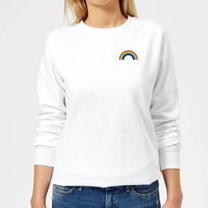 Classic Rainbow Pocket Women's Sweatshirt - White