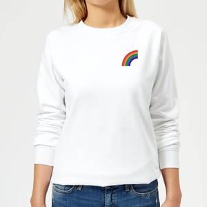 Half Rainbow Women's Sweatshirt - White