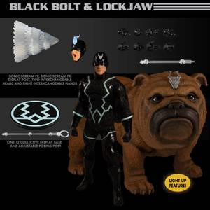 Mezco One:12 Collective Marvel Comics Black Bolt and Lockjaw Action Figure Set