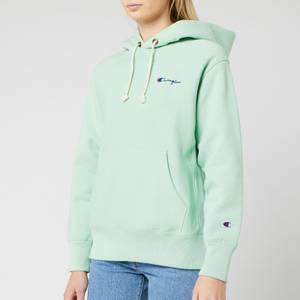 Champion Women's Small Script Hooded Sweatshirt - Mint Green