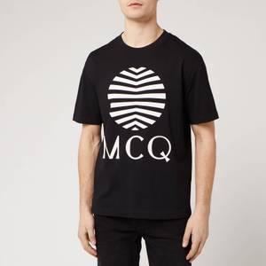 McQ Alexander McQueen Men's Dropped Shoulder Logo T-Shirt - Darkest Black