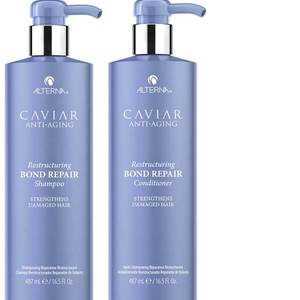 Alterna Caviar Anti-Ageing Restructuring Bond Repair Shampoo and Conditioner 16.5 oz (Worth $132)
