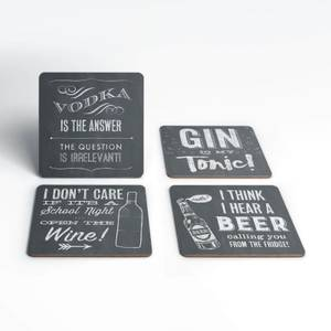 Chalkboard Alcohol Coaster Set