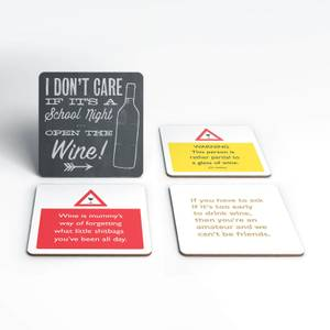 Rude Wine Coaster Set