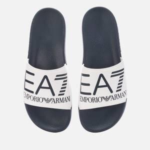 Emporio Armani EA7 Men's Logo Slide Sandals - Blue/White