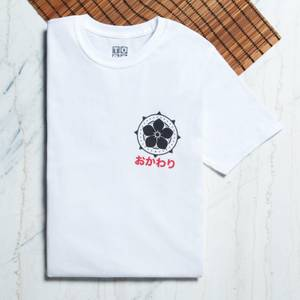 Ramen Panda Symbol Pocket Print T-Shirt - White