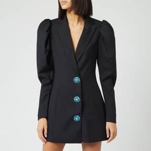 ROTATE Birger Christensen Women's Carol Plain Mini Dress - Pirate Black