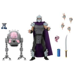 NECA Teenage Mutant Ninja Turtles Cartoon Series Shredder Vs. Krang in Bubble Walker Action Figures (2 Pack)