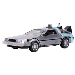 Jada Retour vers le futur : Partie II DeLorean Time Machine avec éclairage moulé échelle 1:24