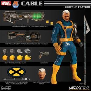 Mezco One:12 Collective Marvel Comics Cable Figure (1990s Costume Version)