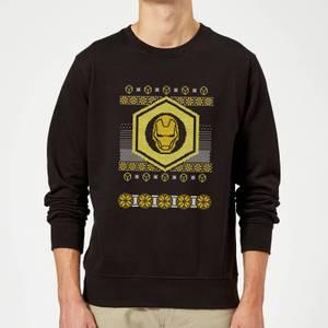 Iron Man Christmas Sweater - Black
