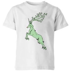 Green Rudolph Kids' T-Shirt - White
