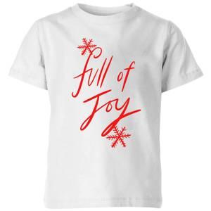Full Of Joy Kids' T-Shirt - White