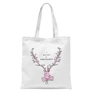 I Believe In Rudolicorns Tote Bag - White