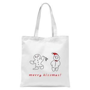 Merry Kissmas Tote Bag - White