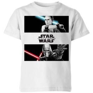 The Rise of Skywalker Rey Vs Kylo Kids' T-Shirt - White