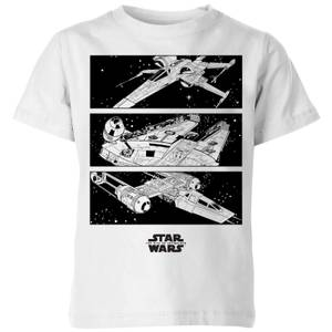 The Rise of Skywalker Resistance Ships Kids' T-Shirt - White