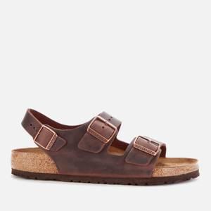 Birkenstock Men's Milano Oiled Leather Double Strap Sandals - Habana