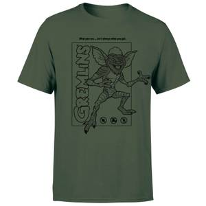 Gremlins Stripe Men's T-Shirt - Forest Green