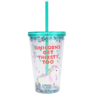 Jolly Awesome Thirsty Unicorns Cup & Straw