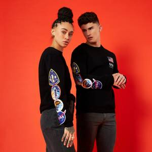 Nasa Mission Unisex Sweatshirt - Black