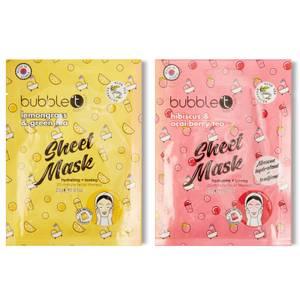 bubbleT Duo de masques hydratants et lissants